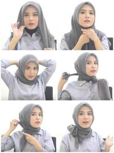 Begini Cara Pakai Hijab Bahan Organza