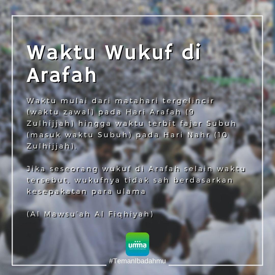 Waktu Wukuf Di Arafah